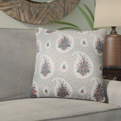 Armidale Floral Cotton Throw Pillow Color: Gray