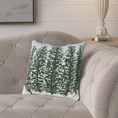 Meigs Hidden Forest Outdoor Throw Pillow Size: 18 H x 18 W, Color: Green