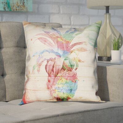 Stach Pineapple Outdoor Throw Pillow Size: 18