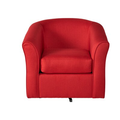 Padron Swivel Armchair Upholstery: Red