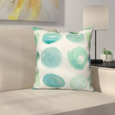Ordonez Watercolor Polka Dots Throw Pillow