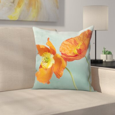 Maja Hrnjak Poppy Flower3 Throw Pillow Size: 20 x 20