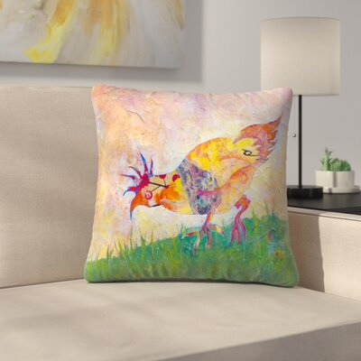 Sunshine Taylor Chicken Indoor/Outdoor Throw Pillow Size: 14 x 14
