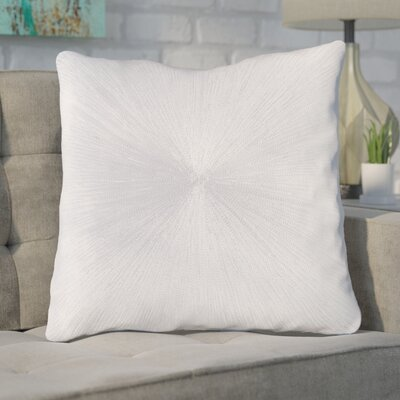 Baran 100% Cotton Throw Pillow Color: White, Fill Material: Down Fill