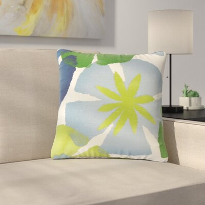 Pohl Floral Cotton Throw Pillow Color: Leaf