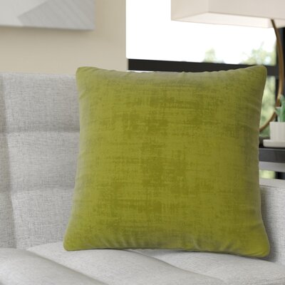 Aylor Square Throw Pillow Color: Lime Green