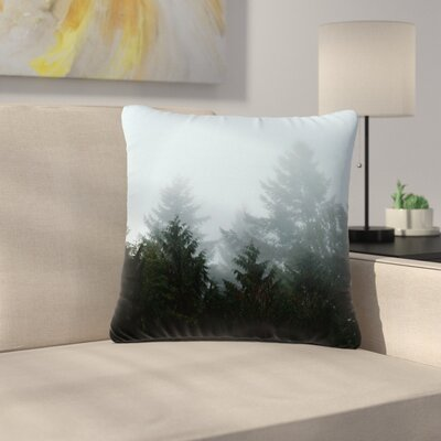 Robin Dickinson Welcome to Earth Mist Forest Outdoor Throw Pillow Size: 18 H x 18 W x 5 D