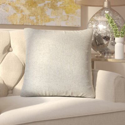Ambriz Solid Throw Pillow Color: Gray