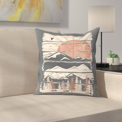 Winte R Pursuits Throw Pillow Size: 16 x 16