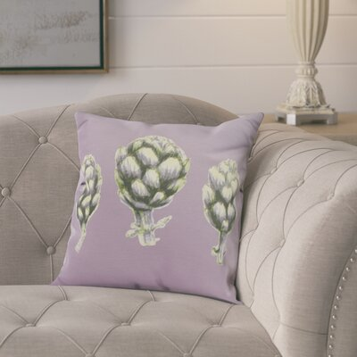 Laymon Throw Pillow Color: Light Purple, Size: 16 x 16