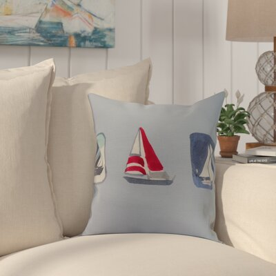 Harriet Print Throw Pillow Color: Light Blue, Size: 16 x 16