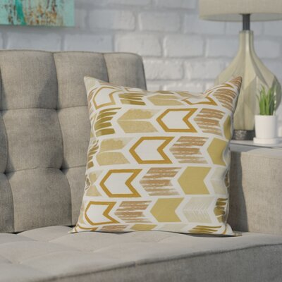 Waller Throw Pillow Size: 26 H x 26 W, Color: Gold