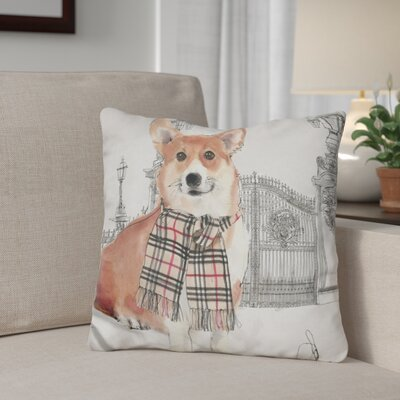 Gerstner at The Gates Corgi Throw Pillow