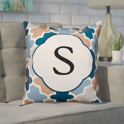 Comstock Monogram Throw Pillow Letter: S
