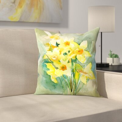 Suren Nersisyan Daffodil Throw Pillow Size: 16 x 16