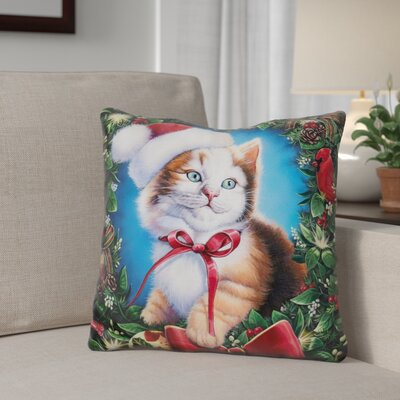 Berkey Christmas Cuties Throw Pillow Color: Blue/Red