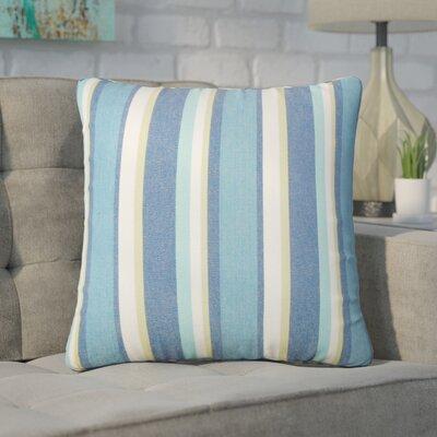 Wallin Striped Cotton Throw Pillow Color: Caribbean