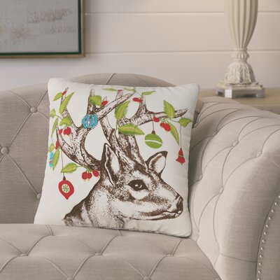 Markus Holiday 100% Cotton Throw Pillow