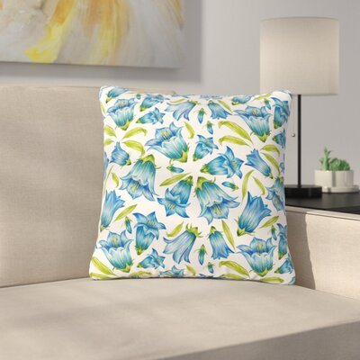 Alisa Drukman Campanula Floral Outdoor Throw Pillow Size: 16 H x 16 W x 5 D