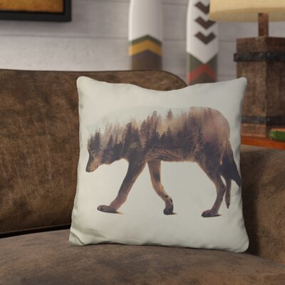 Leonidas the Wolf Norwegian Woods Throw Pillow