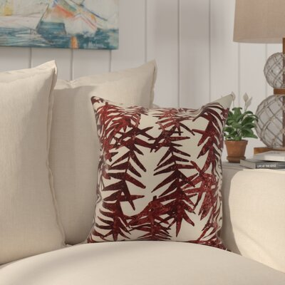 Randall Floral Print Indoor/Outdoor Throw Pillow Color: Red, Size: 16 x 16