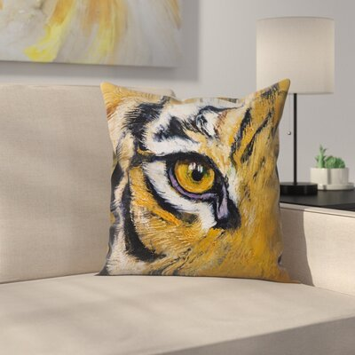 Michael Creese Tiger Eye Throw Pillow Size: 14 x 14