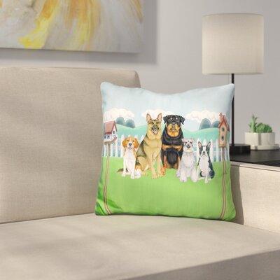 Great Indoor/Outdoor Backyard Throw Pillow