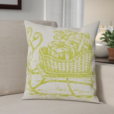 Sleigh Linen Throw Pillow Color: Chartreuse Green
