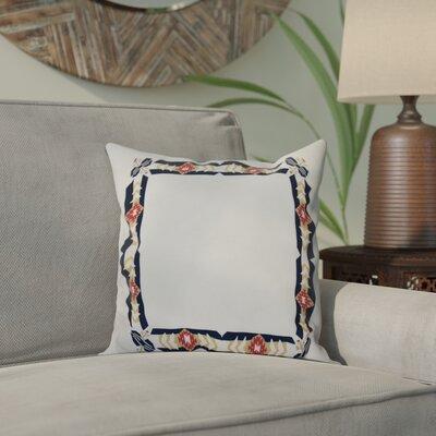 Willa Jodhpur Border Geometric Print Throw Pillow Size: 20 H x 20 W, Color: Navy Blue