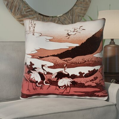 Montreal Japanese Cranes Double Sided Print Euro Pillow