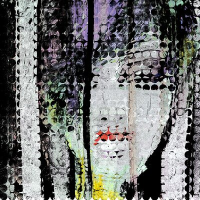 Abstract Colourful Woman Face printed on canvas. Fine art gallery wrapped canvas 36x36 inches with 1,5in thickness. 6353C7F48B074A3E9D6DA6F32D8E3505