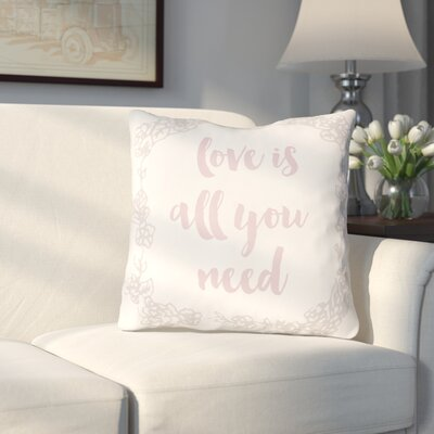 Lyle Indoor/Outdoor Throw Pillow Size: 20 H x 20 W x 4 D, Color: White