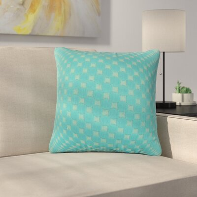 Plyler Solid Cotton Throw Pillow Color: Teal