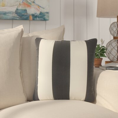 Lozier Striped Throw Pillow Color: Black Beachwood