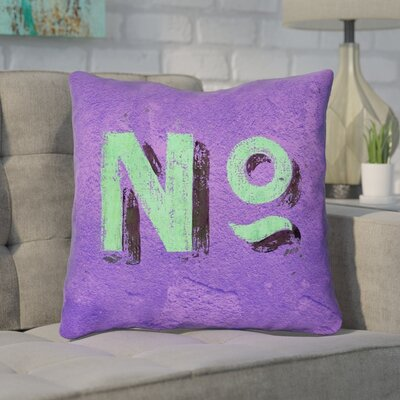 Enciso Graphic Wall 100% Cotton Throw Pillow Size: 14 x 14, Color: Purple/Green