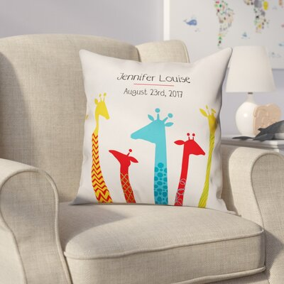 Diedrich Giraffe Family Throw Pillow