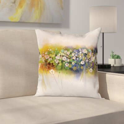 Floral Romance Flowers Bouquet Square Pillow Cover Size: 16 x 16
