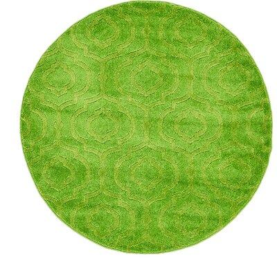 Mcreynolds Trellis Green Area Rug Rug Size: Round 4