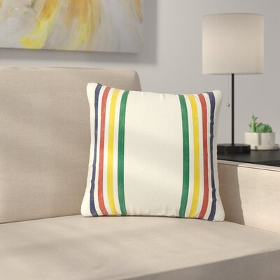 Draper Eagle Scout Stripes Outdoor Throw Pillow Size: 18 H x 18 W x 5 D
