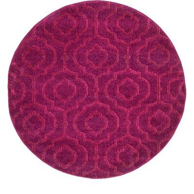 Mcreynolds Trellis Purple Area Rug Rug Size: Round 4