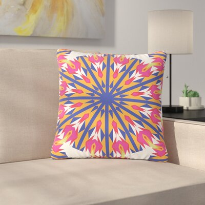 Miranda Mol Modern Dutch Tulips Indigo Outdoor Throw Pillow Size: 16 H x 16 W x 5 D