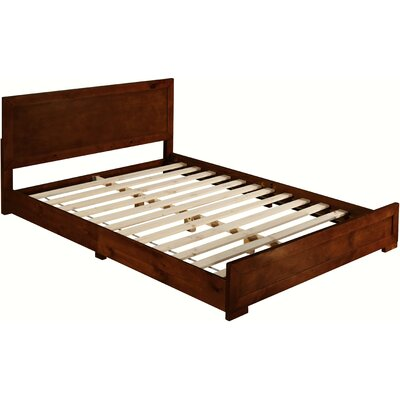 Trent Platform Bed Color: Walnut, Size: Twin