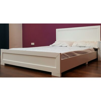 Trent Platform Bed Color: White, Size: Queen