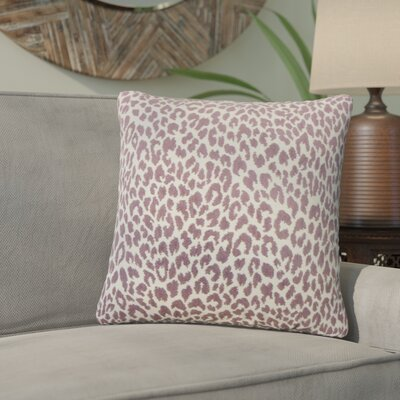Motyka Animal Print Throw Pillow Color: Orchid
