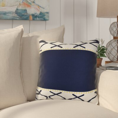 Bartow Knot Fancy Throw Pillow Size: 16 H x 16 W x 3 D, Color: Navy Blue