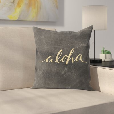 Jetty Printables Aloha Chalkboard Throw Pillow Size: 14 x 14