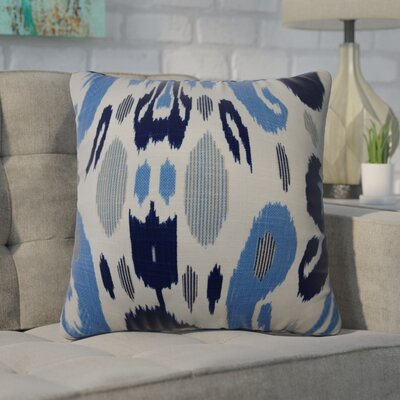 Zelda Ikat Cotton Throw Pillow