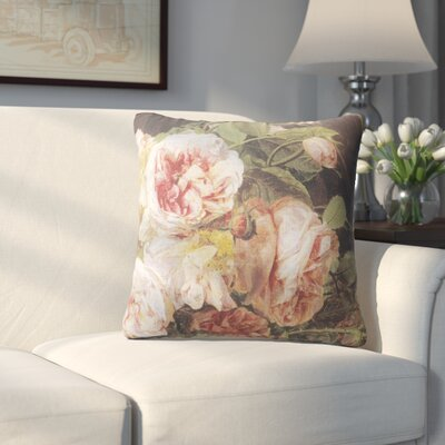 Lebaron Rose Mallow Throw Pillow Size: 24 H x 24 W x 6 D