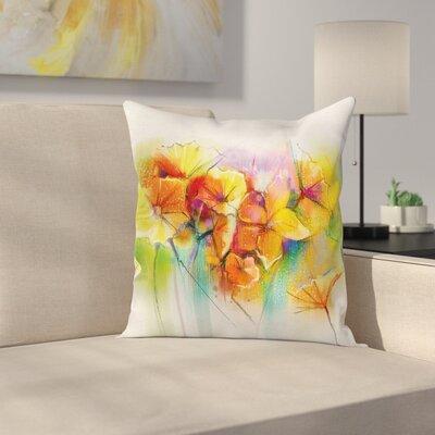Autumn Flower Bouquet Square Pillow Cover Size: 24 x 24