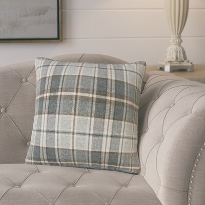 Tschaenn Plaid Throw Pillow Color: Gray